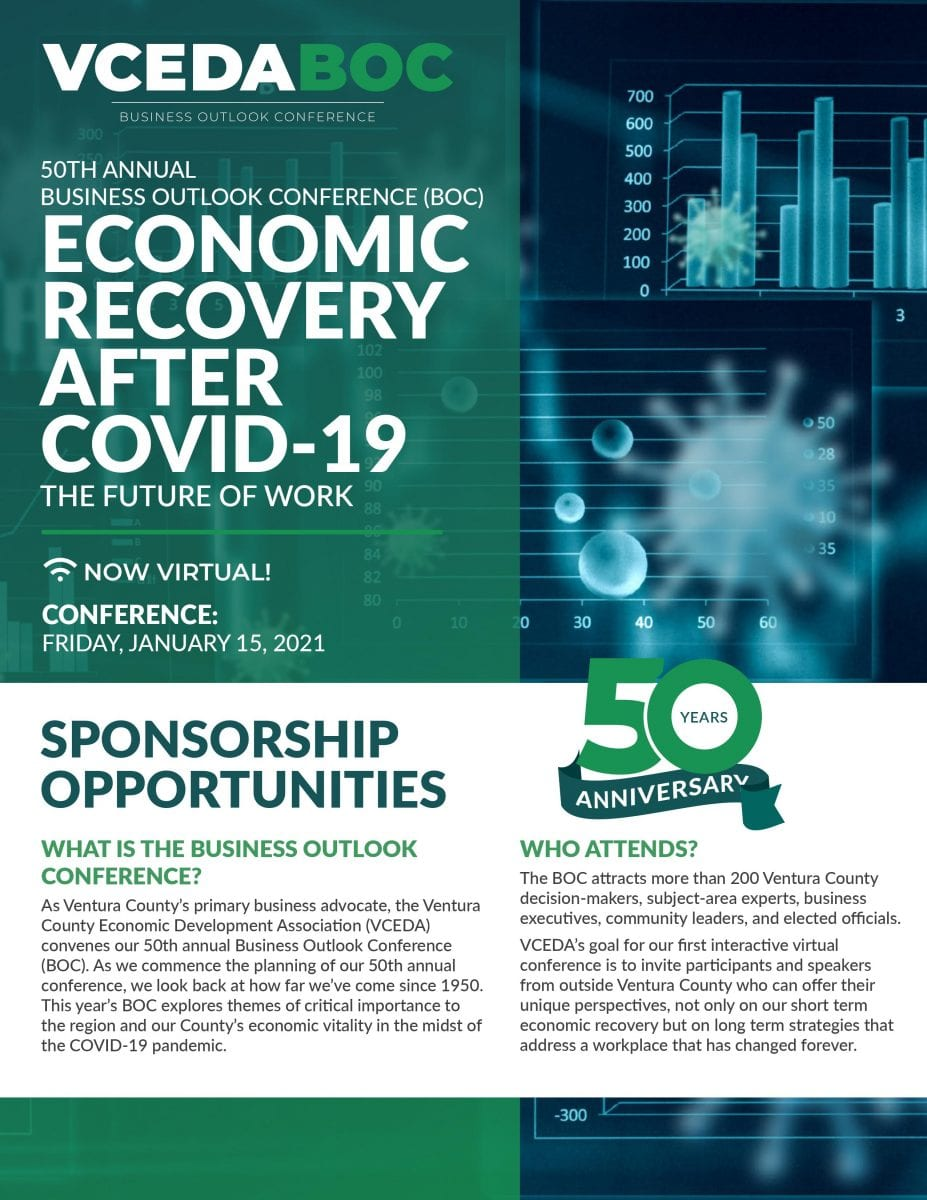 Ventura County Economic Development Association Business Outlook Conference Cover Page