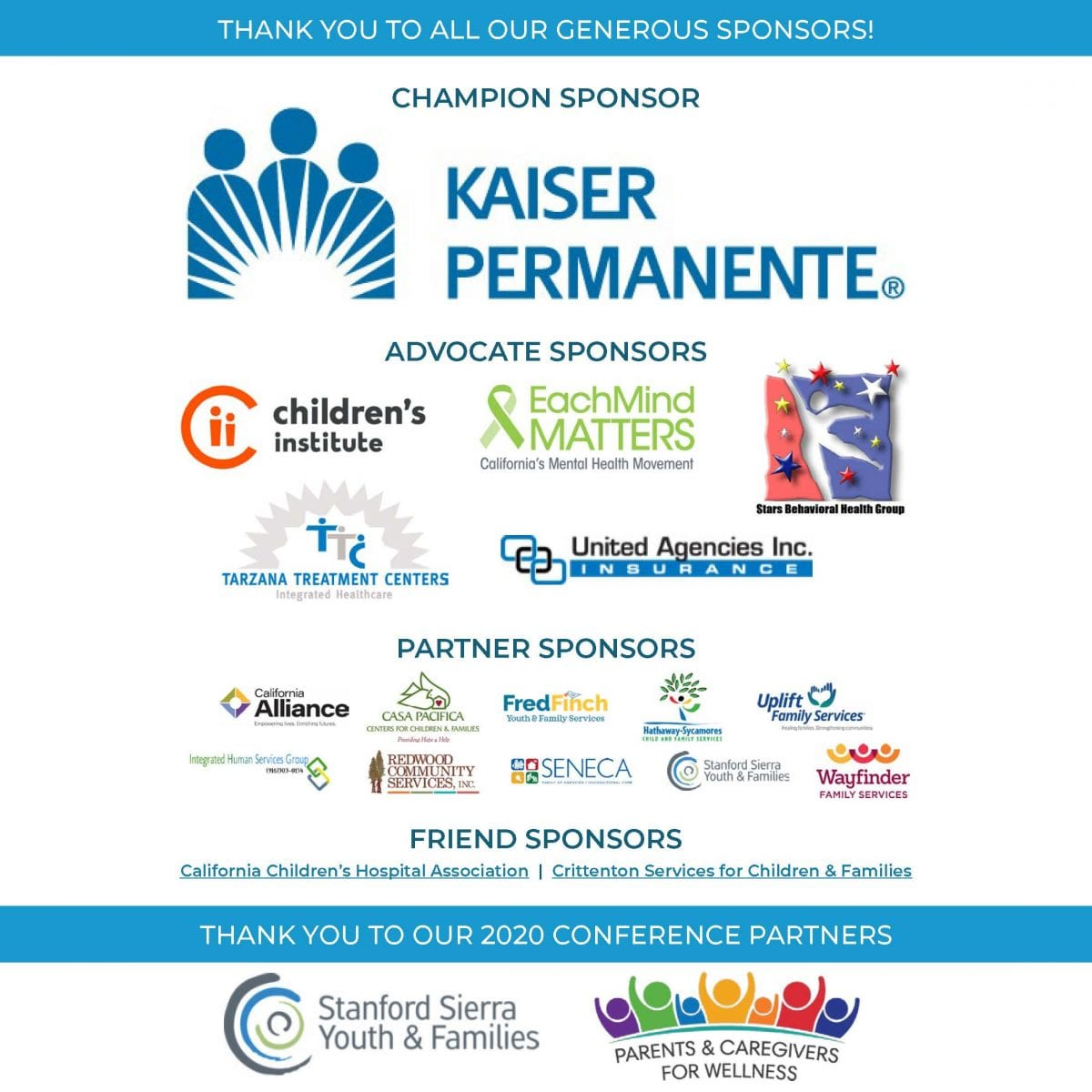 Thanks to all our generous sponsors!